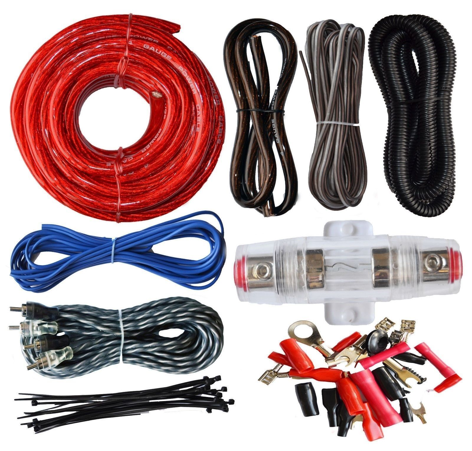 SoundBox Connected 4 Gauge Amp Kit Amplifier Install Wiring Complete 4 Ga  Wire #amplifier #wiring #kits #electronics #accessories #installation  #products ...