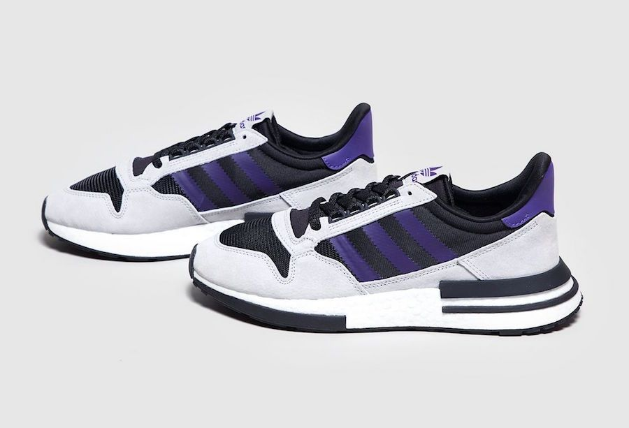 best website f1704 98f3e adidas ZX 500 RM Black Purple size Exclusive Release Date