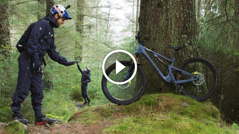 Mountain Bike In Rain