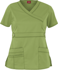 632f889bb8e Dickies Gen Flex Contemporary Youtility Mock Wrap Scrub Top ...