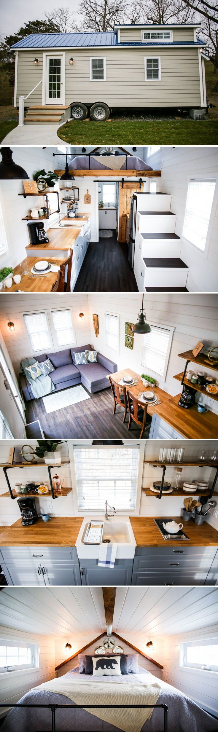 Modern Take Two by Liberation Tiny Homes - Tiny Living #tinyhouses