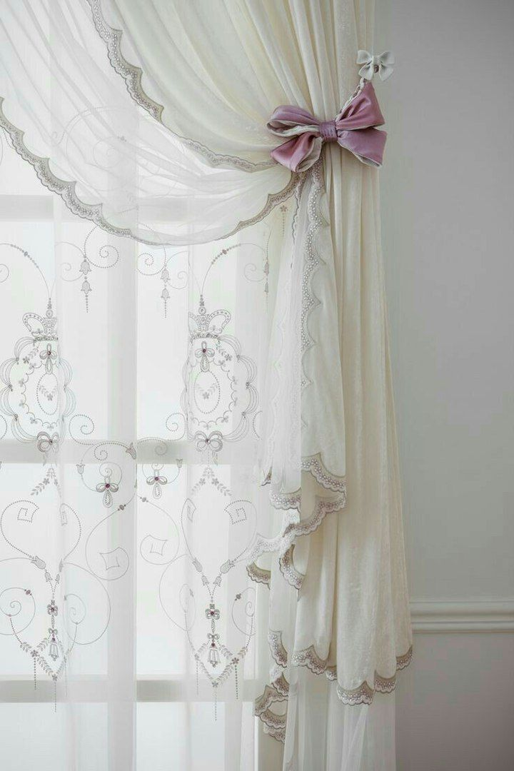Pin By Budur Alghamdi On Interiors Shabby Chic Curtains Window Treatments Bedroom Curtains Bedroom