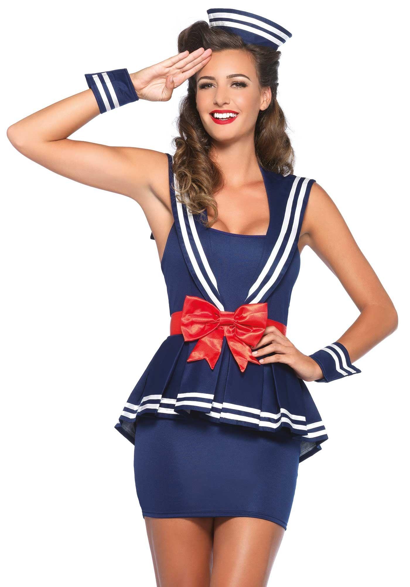 bdca7442f50b2 ... retro chic Sailor Girl plus size costume dress for women. Sailor costume