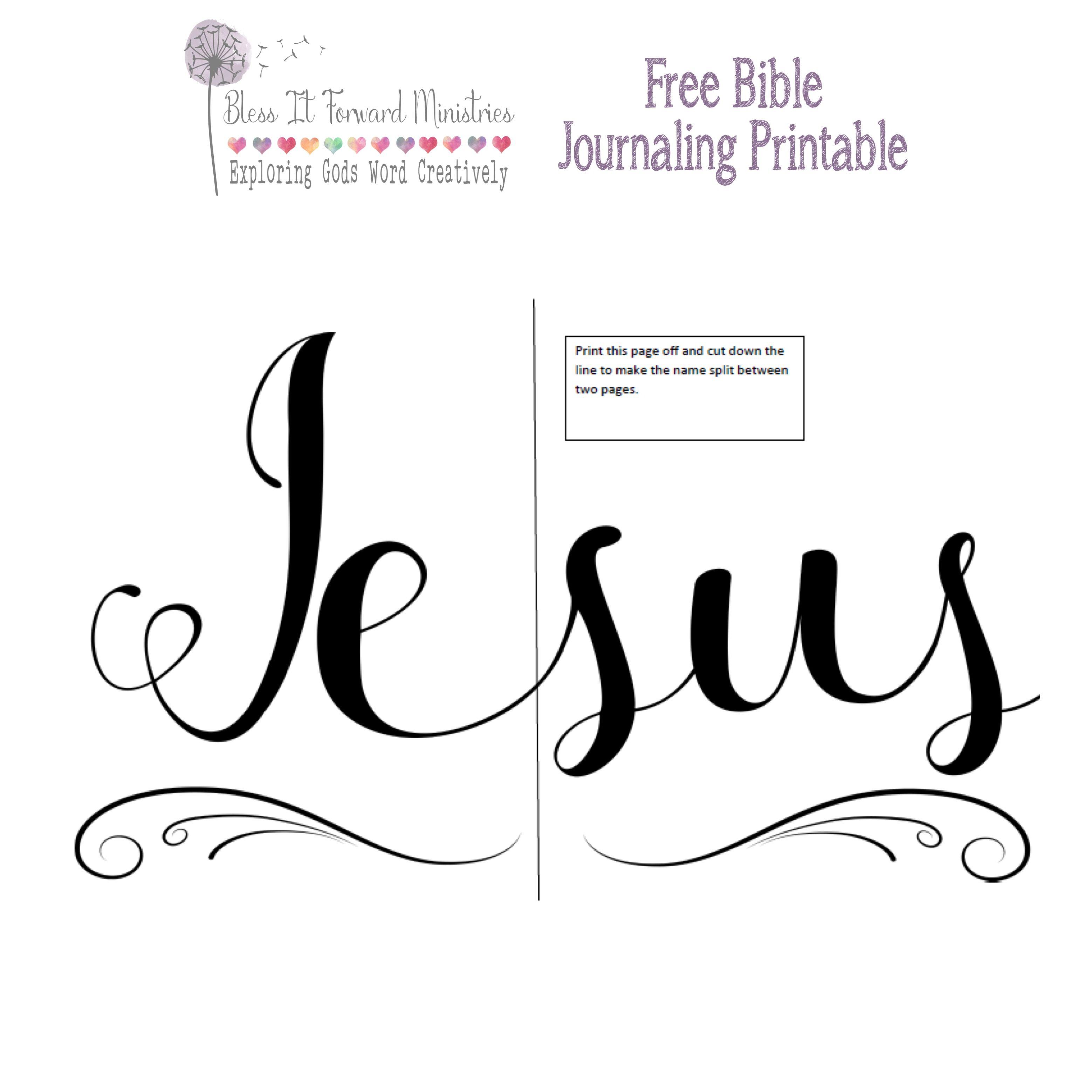 Free Bible journaling printable      :-) | Journal | Free bible