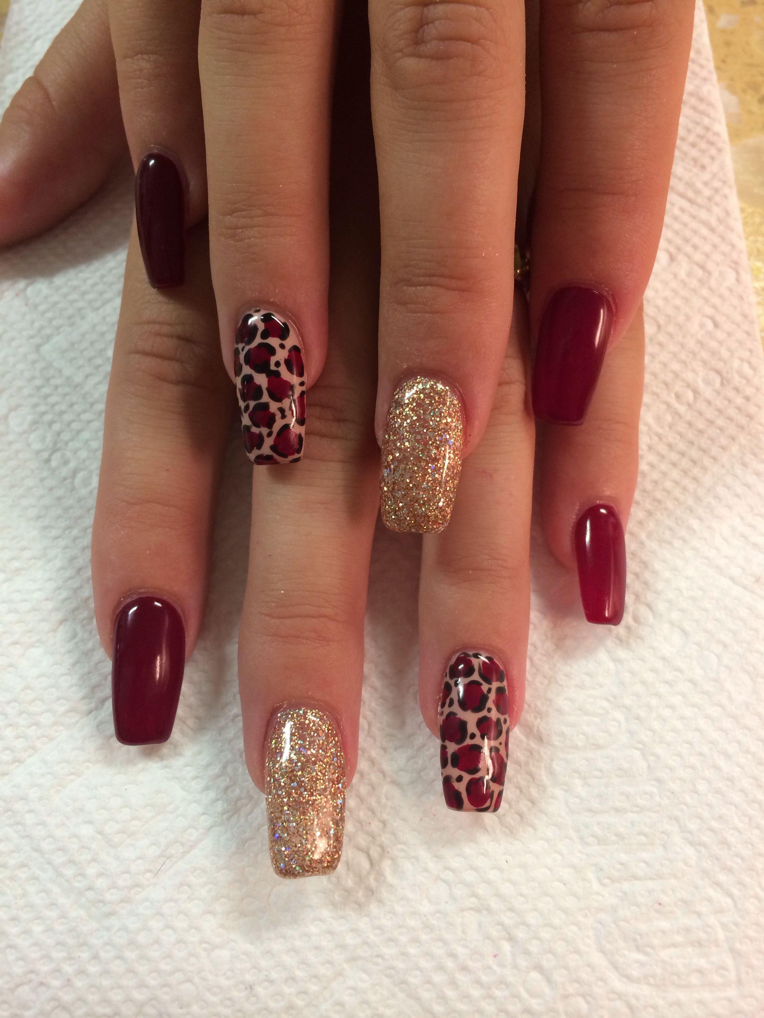 cheetah print nail design nails