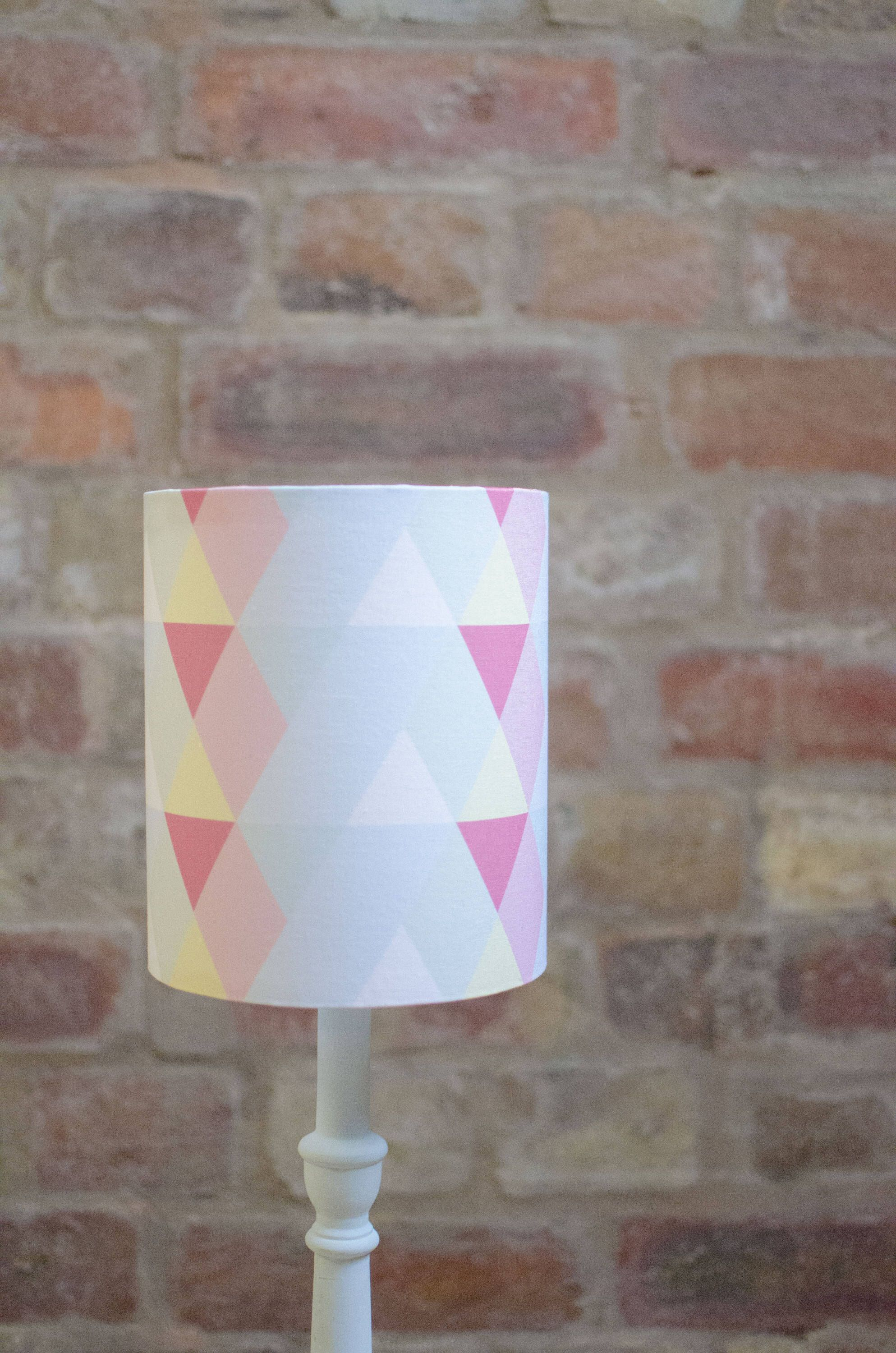 Pastel Lamp Shade Pastel Nursery Decor Pastel Home Decor Pink Lampshade Blue Lamp Shade Light Shade Geometric Lampshade Table Lamp Blue Lamp Shade Pastel Home Decor Pastel House