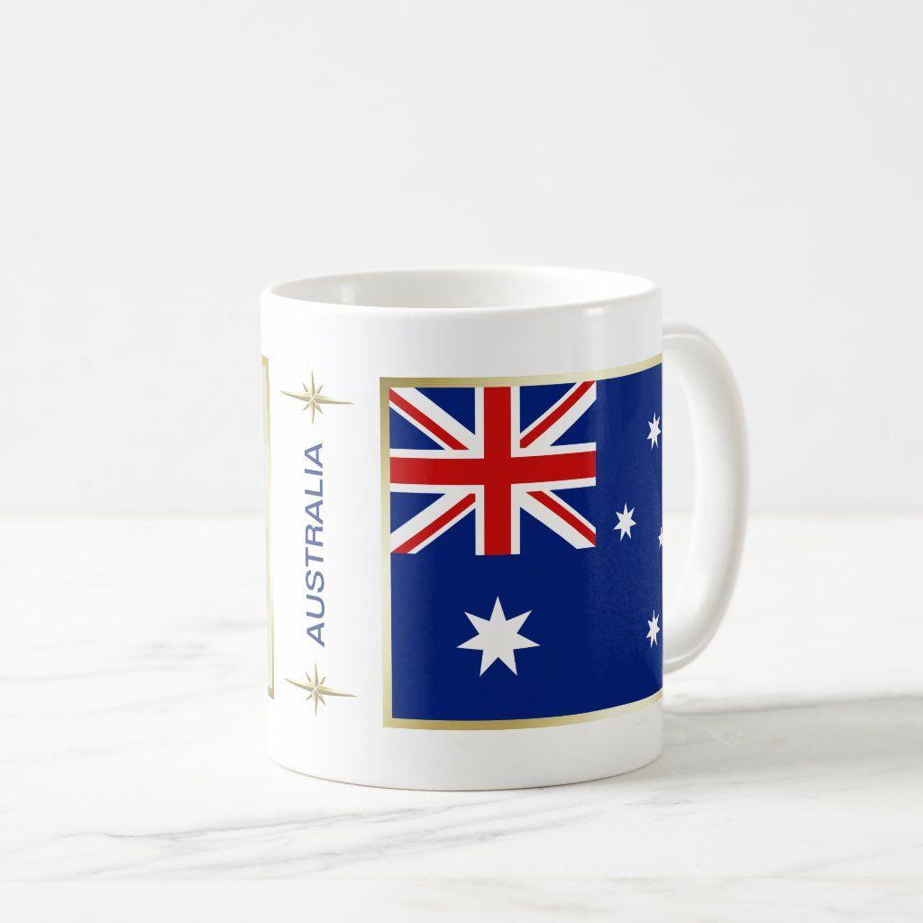 Australia Flag + Map Mug