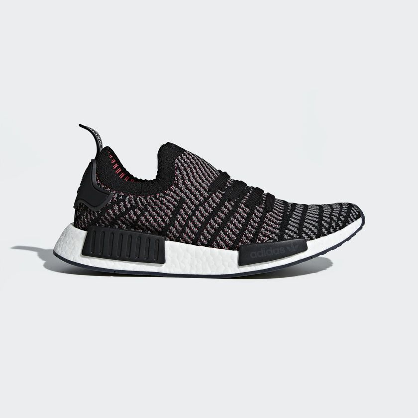 a329227847c90 Adidas Originals Nmd R1 Stlt Pk Primeknit Boost Black Grey Pink Men New  CQ2386
