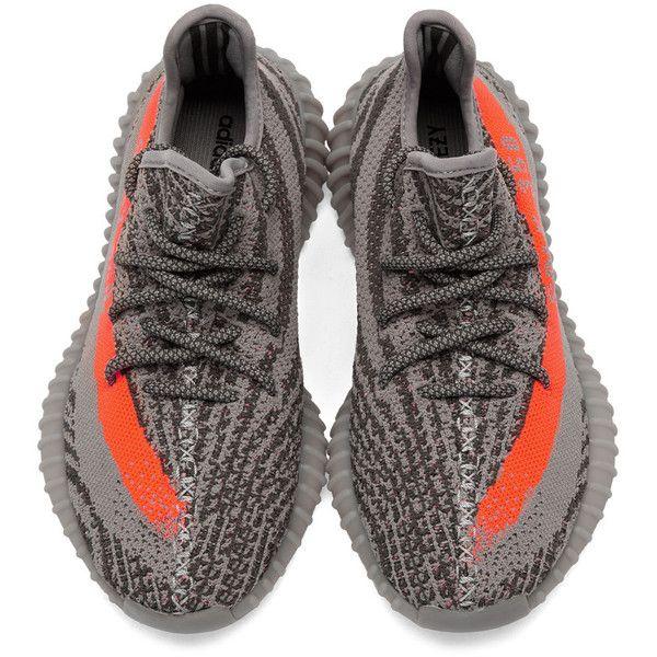 afbc83bafaa YEEZY Season 2 Grey Orange YEEZY BOOST 350 V2 Sneakers ❤ liked on Polyvore  featuring shoes