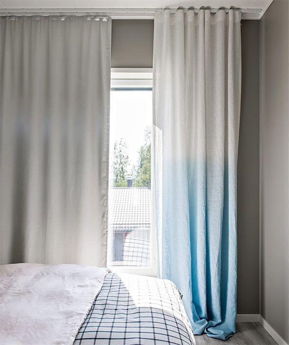 Liukuvärjätty verho, Valmisjukka Aurinko 116, Asuntomessut 2014