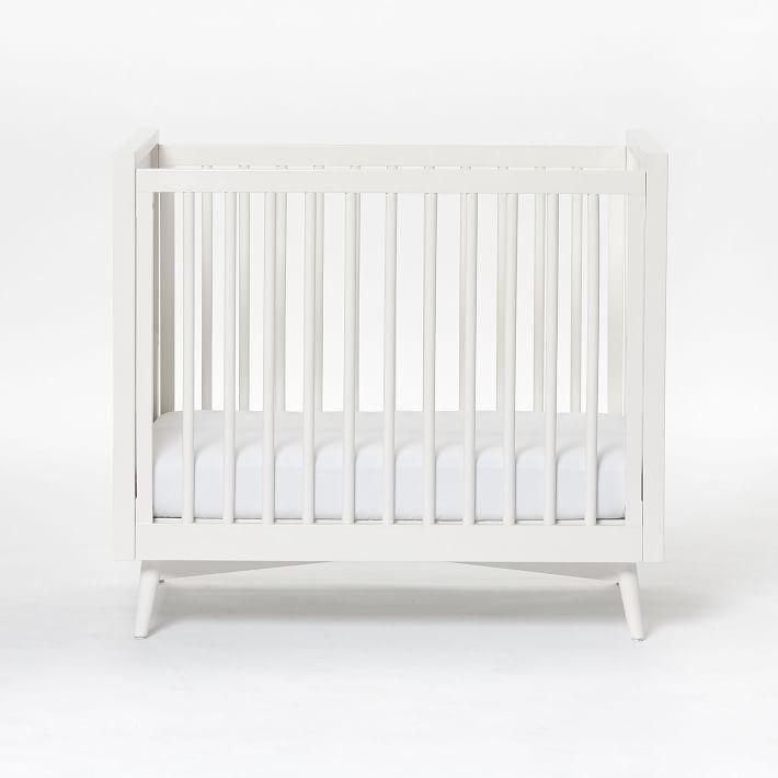 Mid Century Mini Crib Amp Mattress Set White Mini Crib