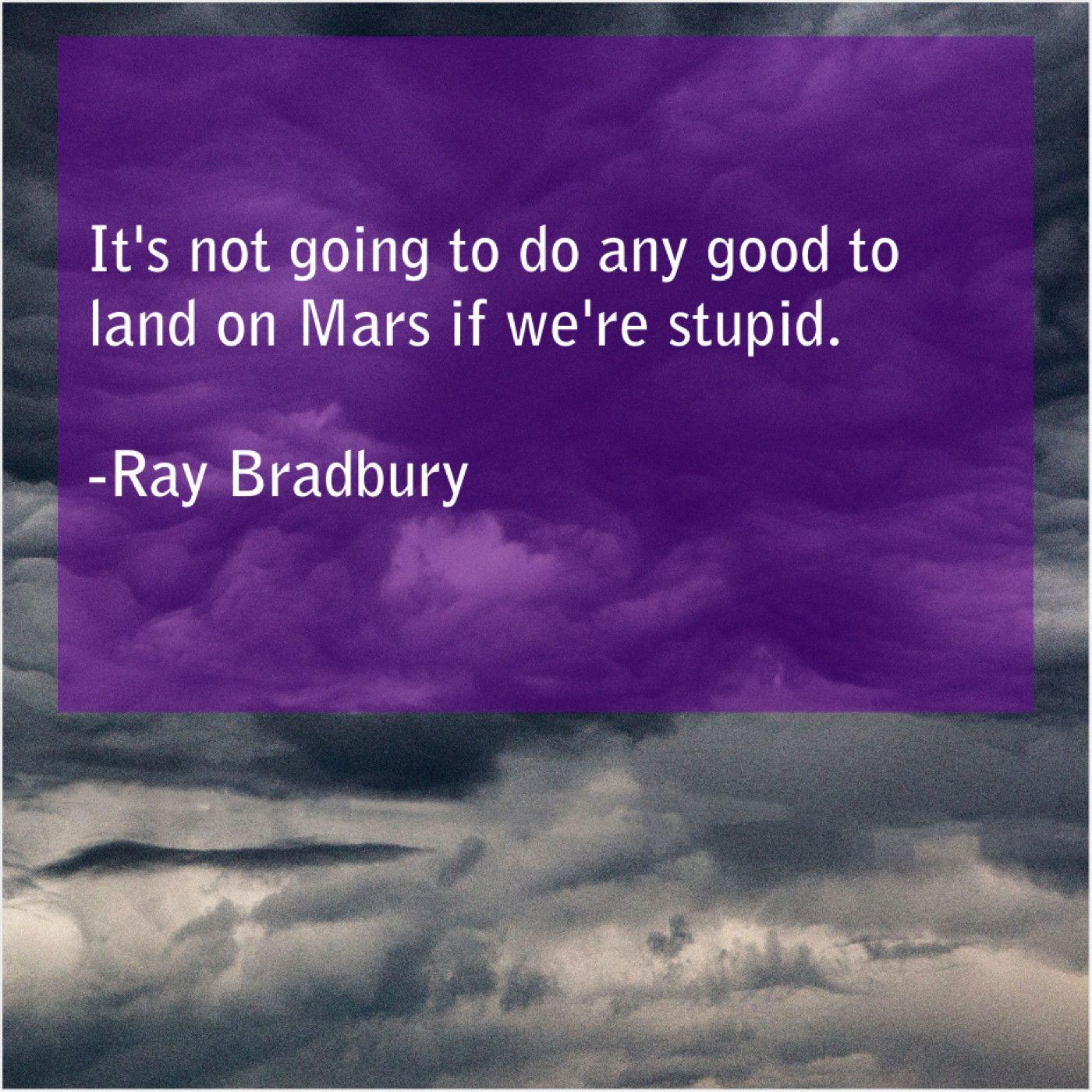 Ray Bradbury Its Not Going To Do Ray Bradbury Garry Shandling Tim Vine