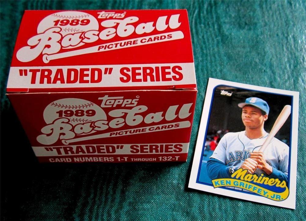 1989 topps traded set ken griffey jr rookie deion sanders
