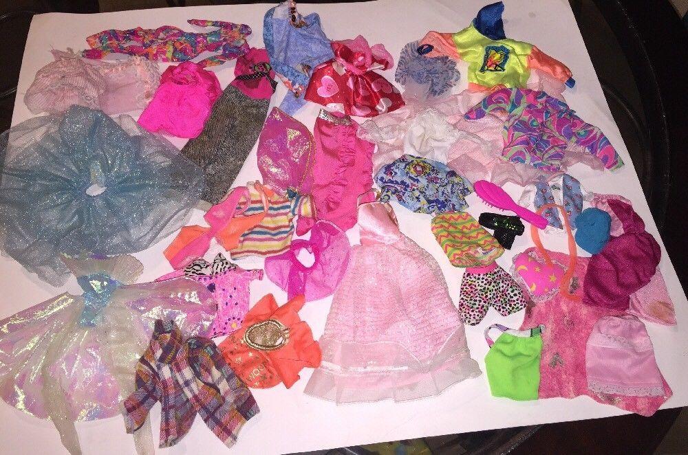 Vintage 1980s 90s Barbie Ken Doll Clothes Bundle 35 Pcs Shirt Dress Shorts Etc Ebay Ken Doll Short Dresses Doll Clothes