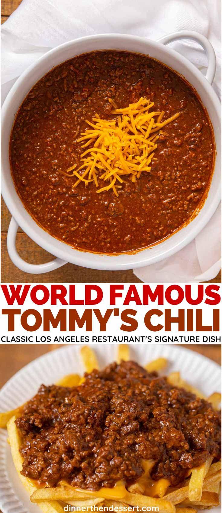 Tommy's Chili (Copycat) Recipe - Dinner, then Dessert