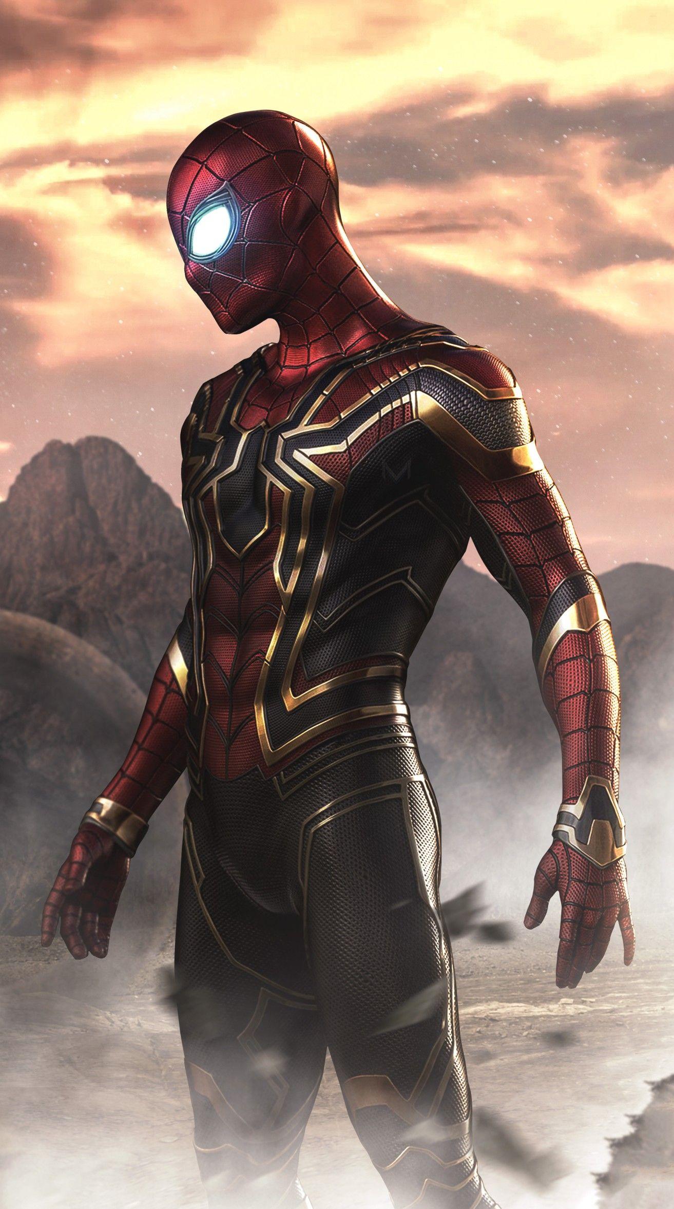 Iron Spider Man Spiderman Personajes Hombre Arana Comic Superheroes Marvel