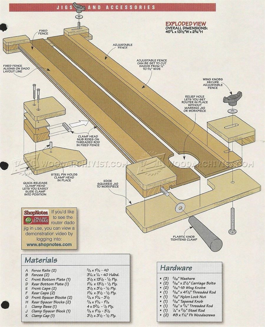 643 Router Dado Jig Plans Joinery Tips Jigs And