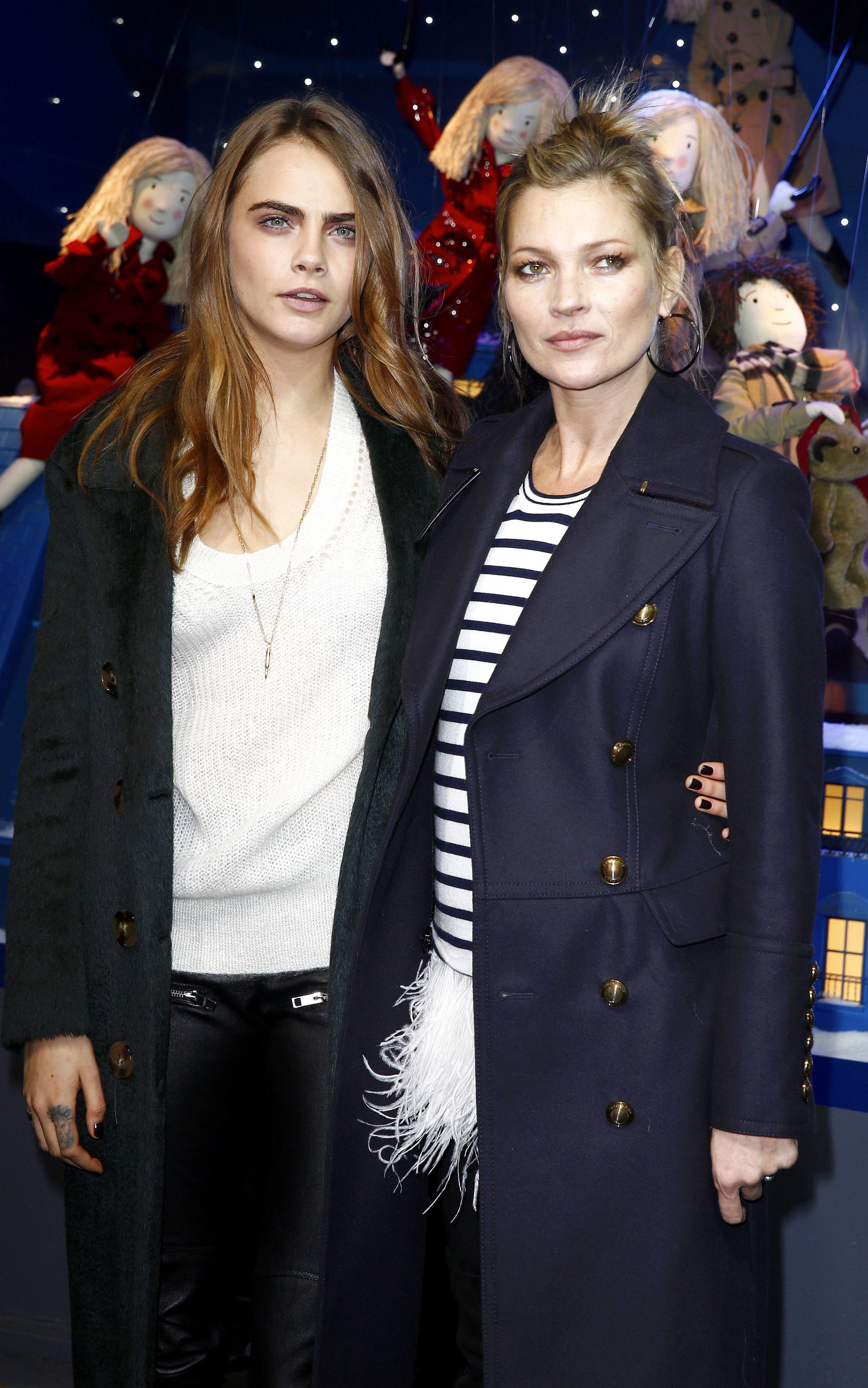 Kate Moss sports a breton striped top