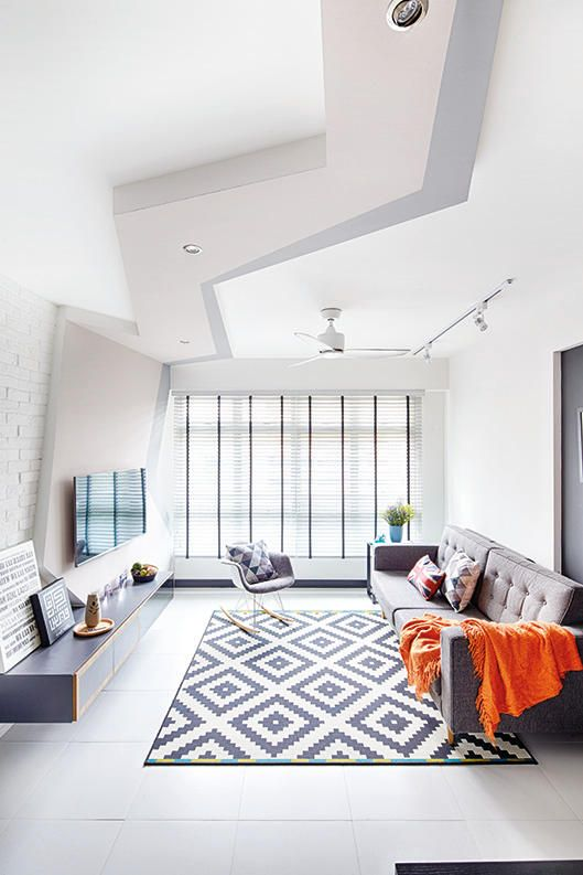 Hdb Living Room Decorating Ideas: House Tour: Monochromatic HDB Home With A Fun Vibe