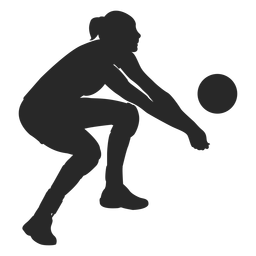 Volleyball digging silhouette | Silhouette, Silhouette png ...