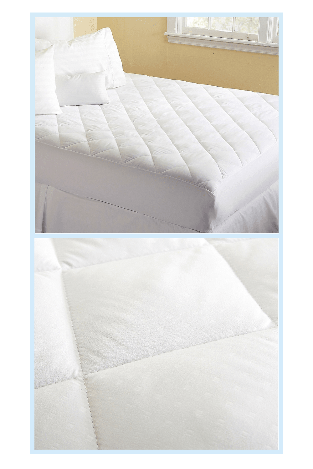 Great Bay Home Cassidy Ultra Soft Full Mattress Pad White In 2020 Mattress Pad Full Mattress Mattress