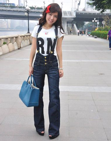 Slimming Wide Leg Womens Overalls Jeans Jeans For My Clothing