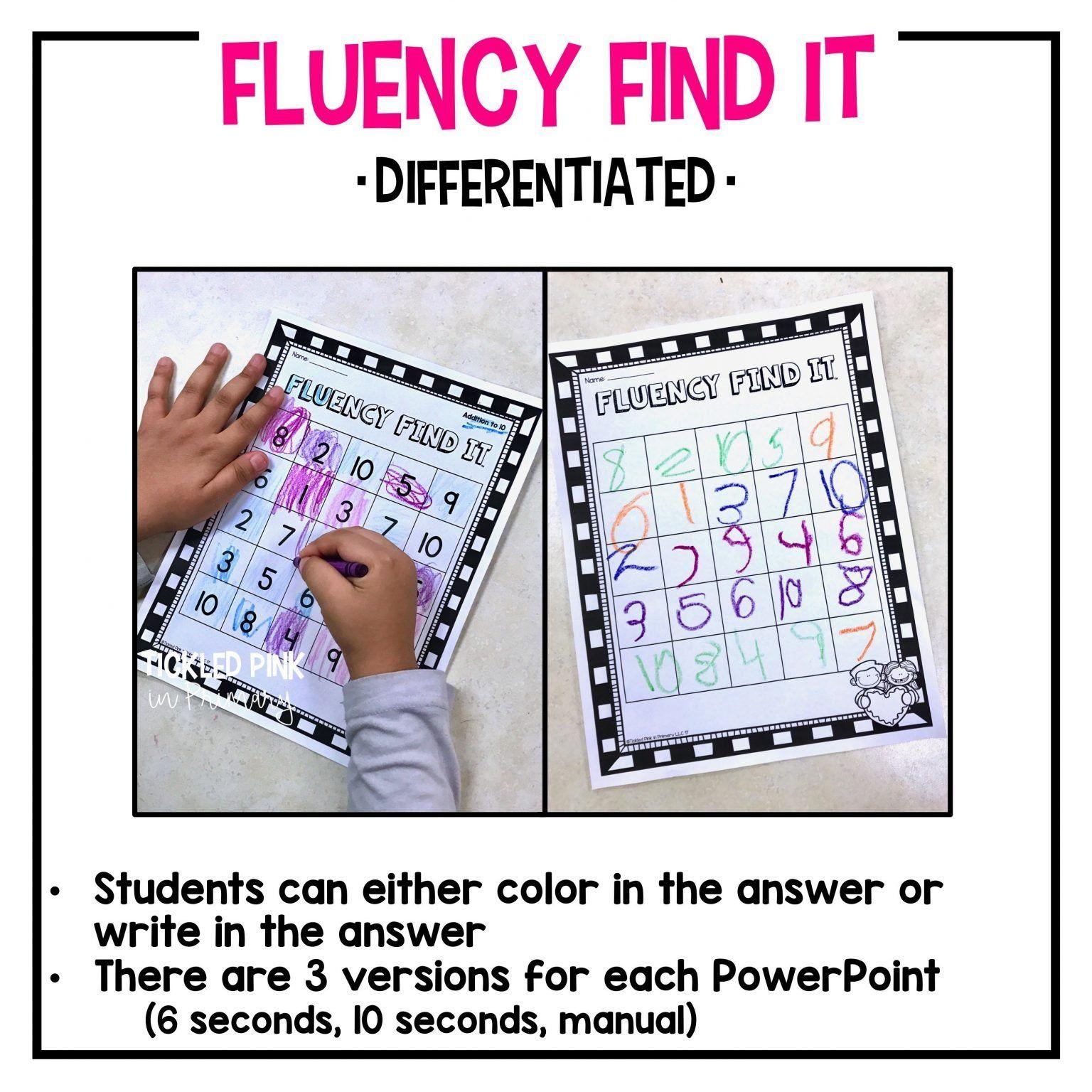 Cvc Words Fluency Find It In