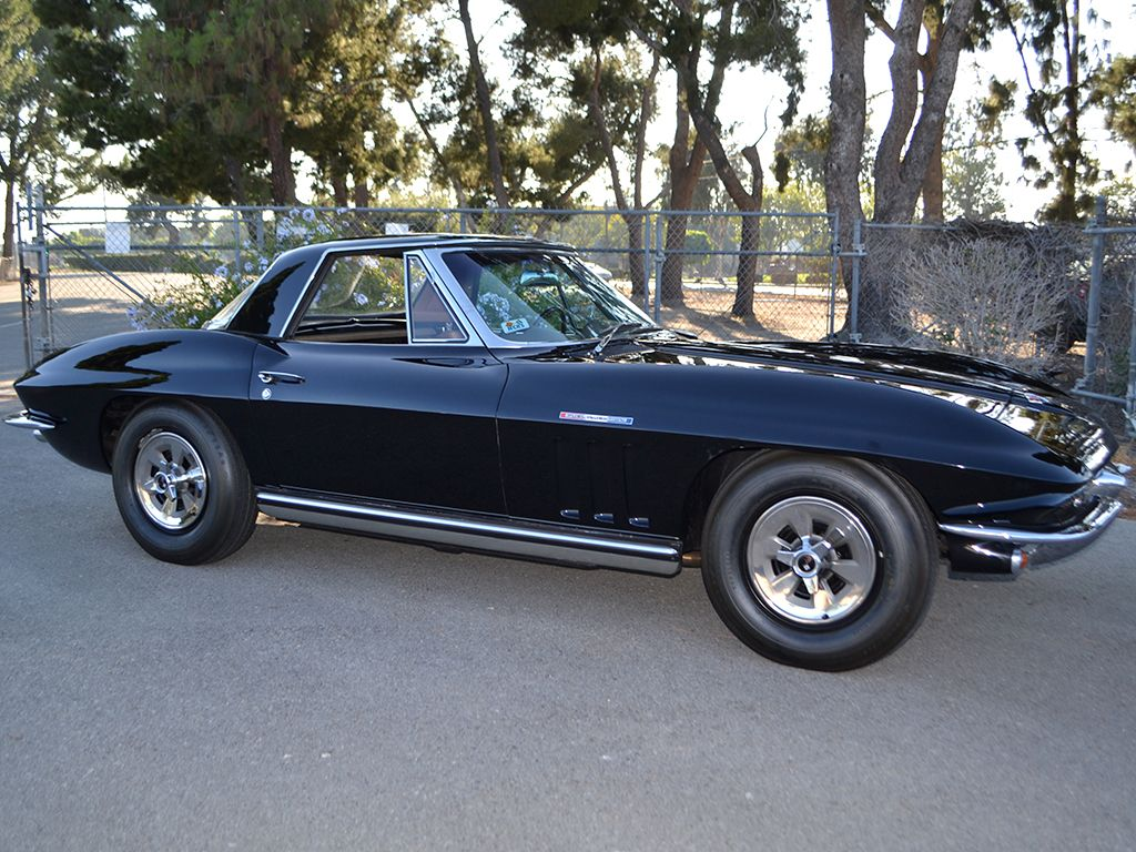 1965 chevrolet corvette last year of c2 fi tuxedo black w saddle interior