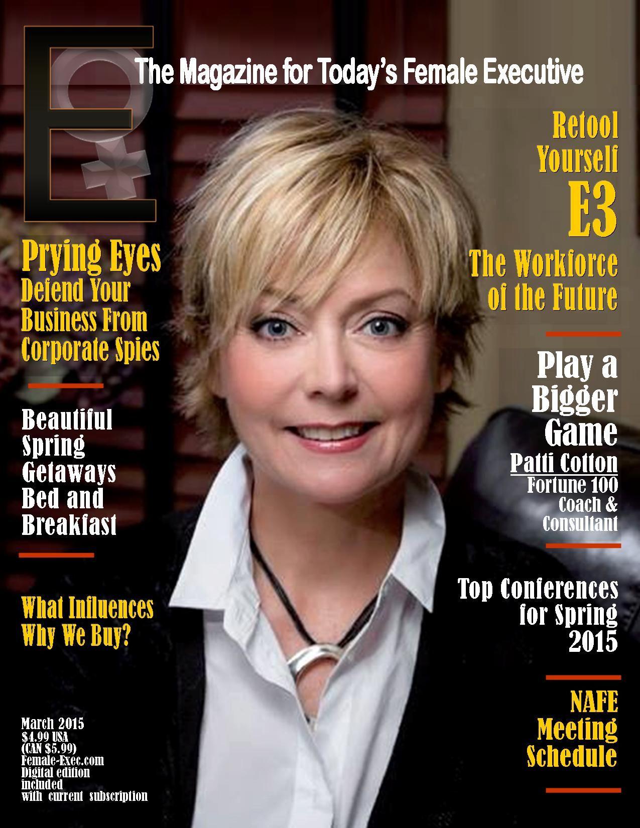 E The Magazine For Todays Female Executive Cover March 2015 E The