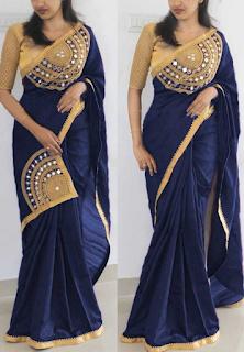 208ae20cbfb09 Paper silk Bangalore silk sarees - Vastra Fashion