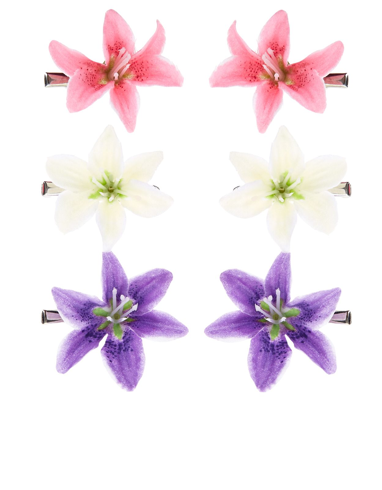 Get In The Floral Swing With This Set Of Three Lily Flower Hair
