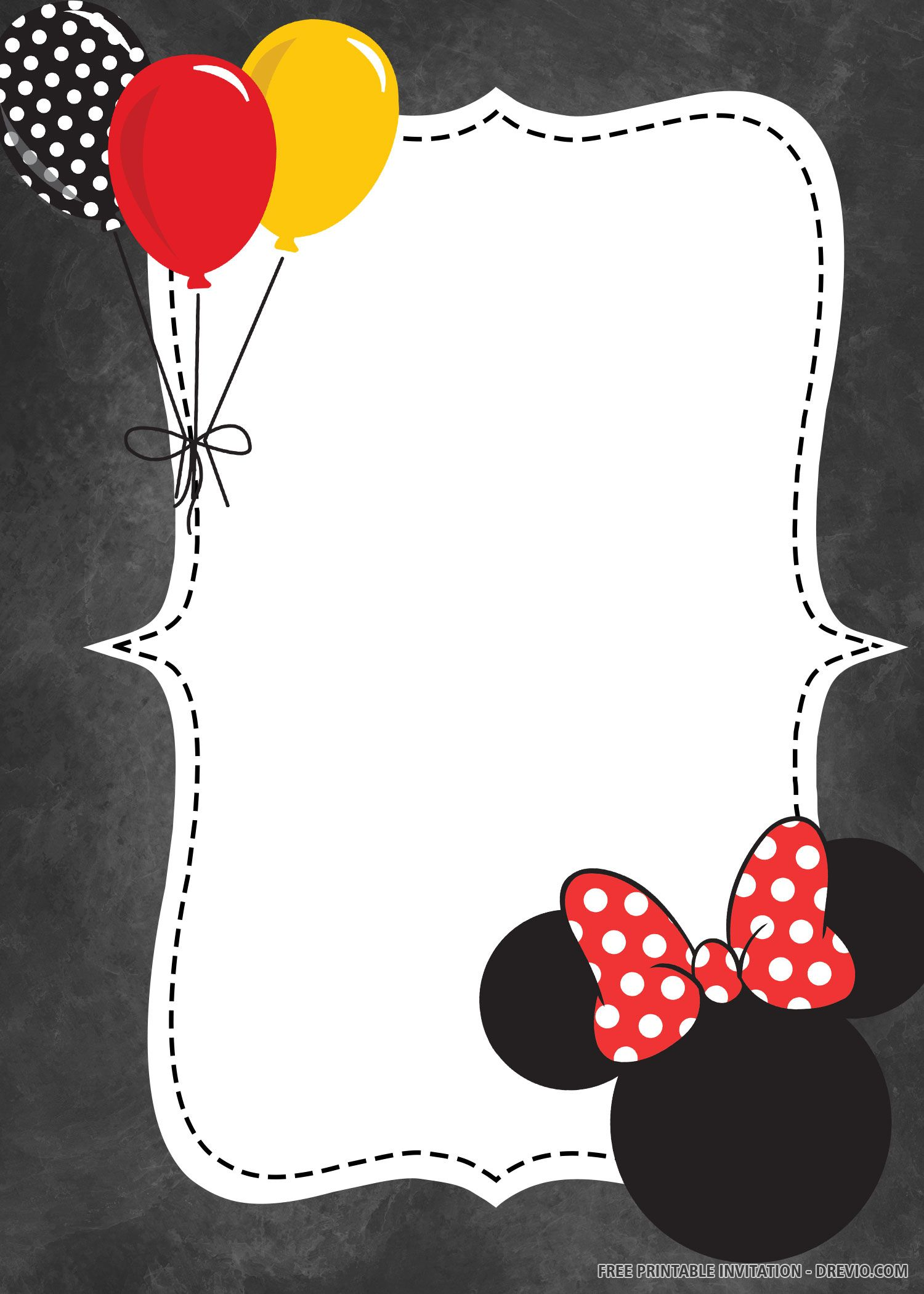 free printable balloon minnie mouse