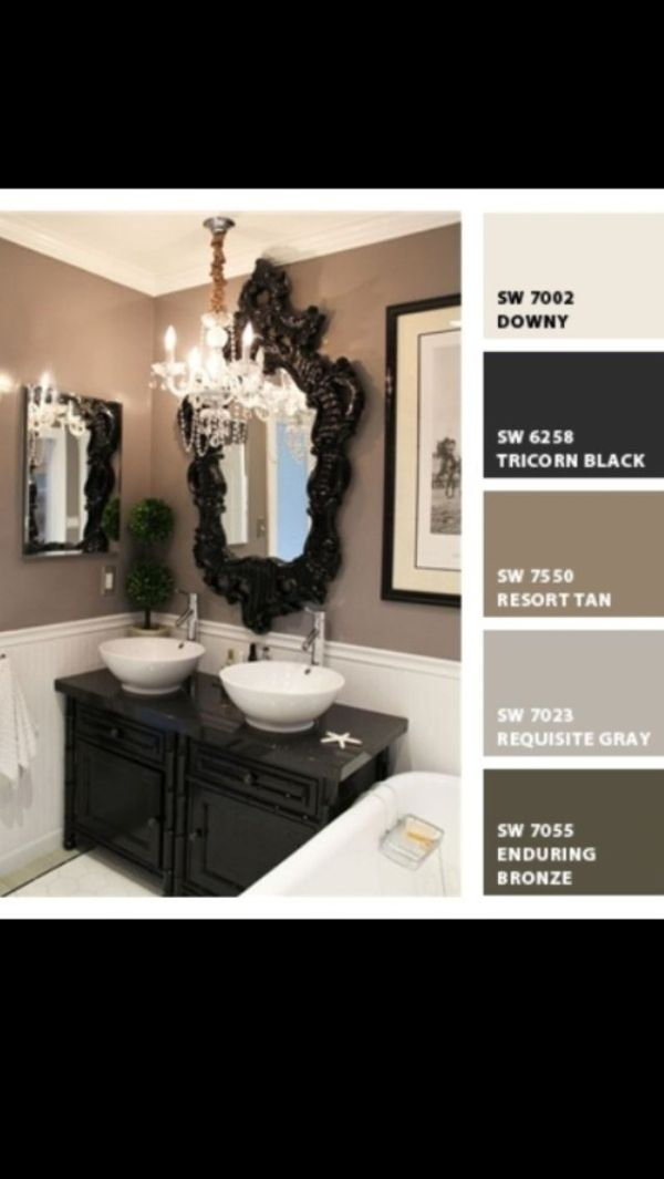 Small bathroom/powder roomlove these colors together! by angela