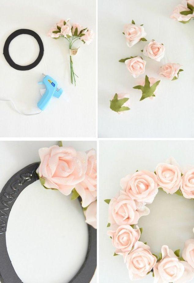 DIY Faux Flower Wreath | Manualidades de niños, Corona floral y ...