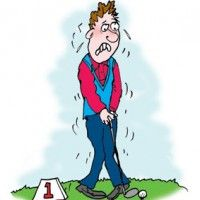 Managing your nerves in golf - You are standing on the final hole with a 6 foot putt to win. Your palms are sweaty, you're fielding a myriad of thoughts, your body feels jittery, and your stomach seems to have a pinball game going on inside it. Suddenly, a mostly enjoyable round has become a battle of the nerves. Whether you are playing for skins with your buddies, or to qualify for the U.S. Open, stress and anxiety can play a big role when it comes to your performance.