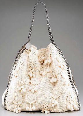 b9a1ac54965 e-crochet: Επώνυμες τσάντες Μοδάτες Τσάντες, Πλεκτές Τσάντες, Κροσέ Tote,  Υφάσματα