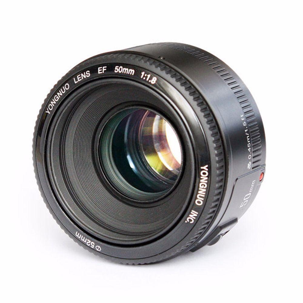 YONGNUO YN EF 50mm f/1.8 AF Lens Aperture Auto Focus YN50mm f1.8 ...