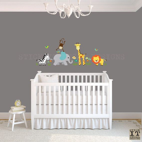 Safari Wall Decal Nursery Mini By Stickitdecaldesigns 48 00 Pinterest Babies And