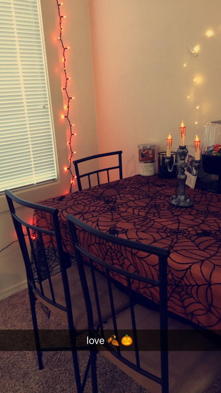 my apartment decor for Halloween ✨ Halloween Decor Pinterest - Halloween Table Decorations Pinterest