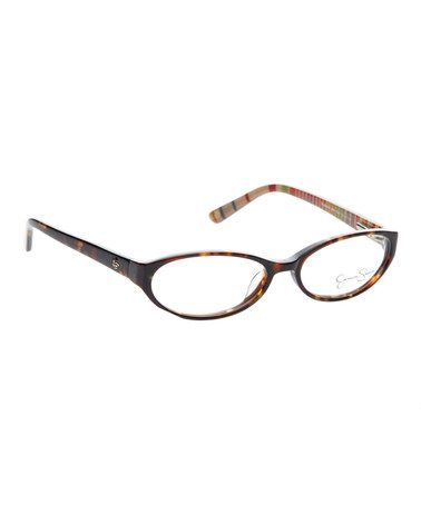 Tortoise Bright Stripe Eyeglasses by Jessica Simpson Collection #zulilyfinds