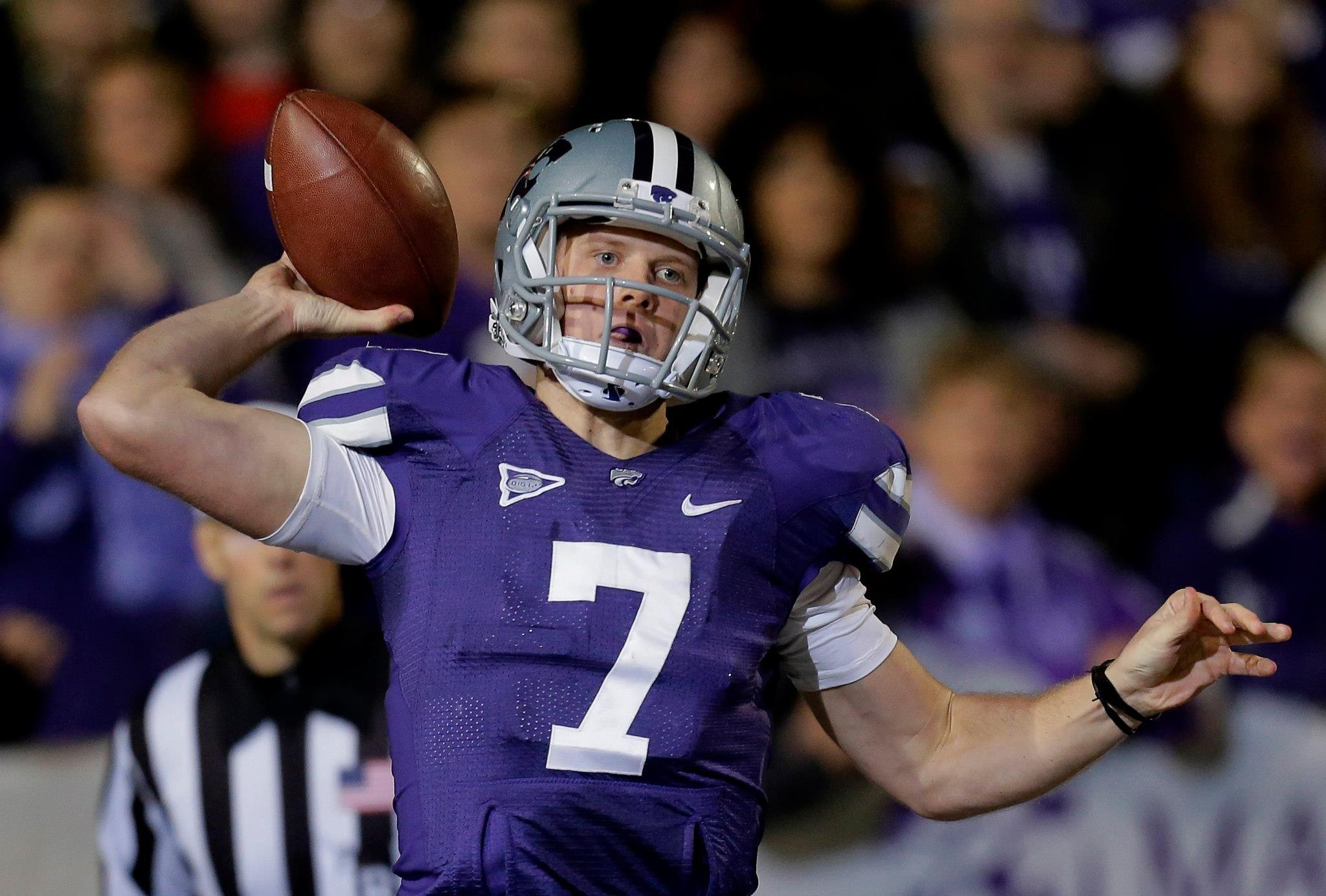 Collin Klein Big 12 champion quarterback Wildcats