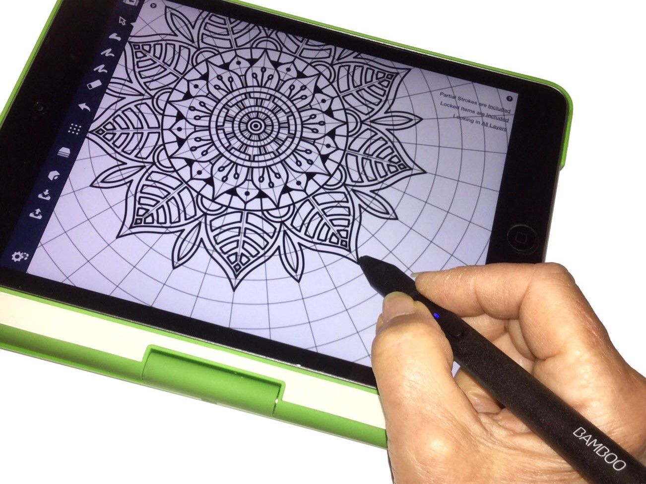 How to Draw a Mandala in Concepts Concepts App