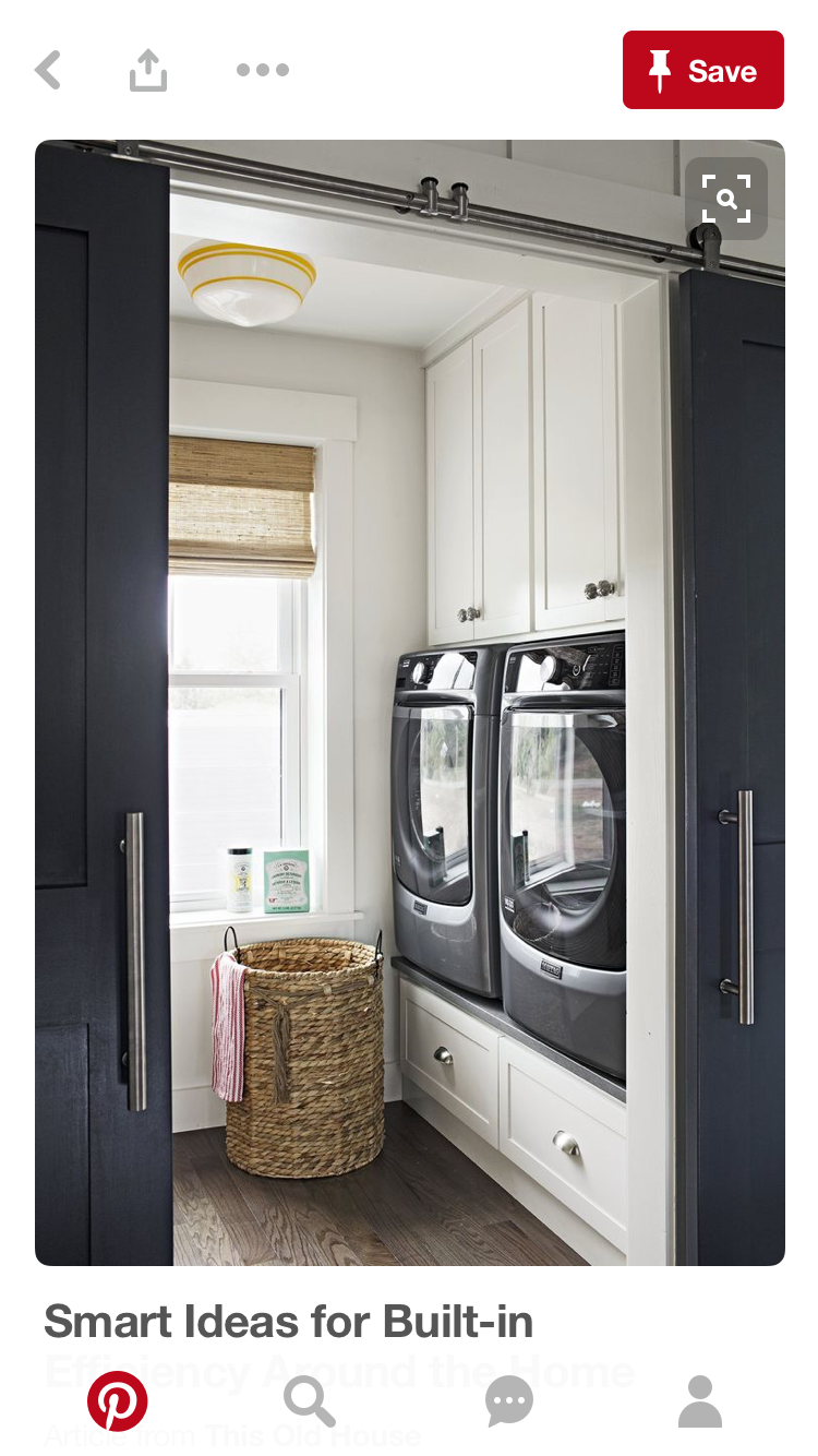 Love Sliding Doors For Laundry Room Wonder If We Could Use The