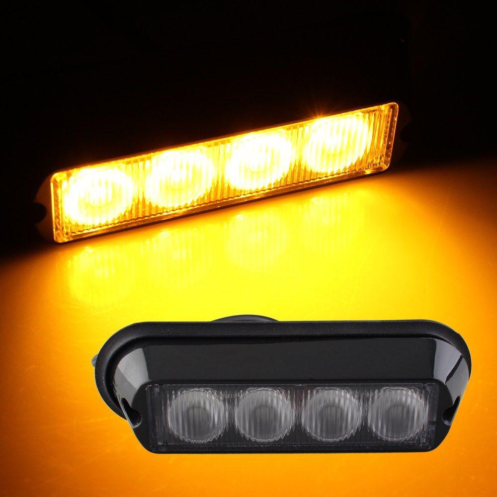 Qook 4W High Power 4 LED Waterproof Car Truck Emergency