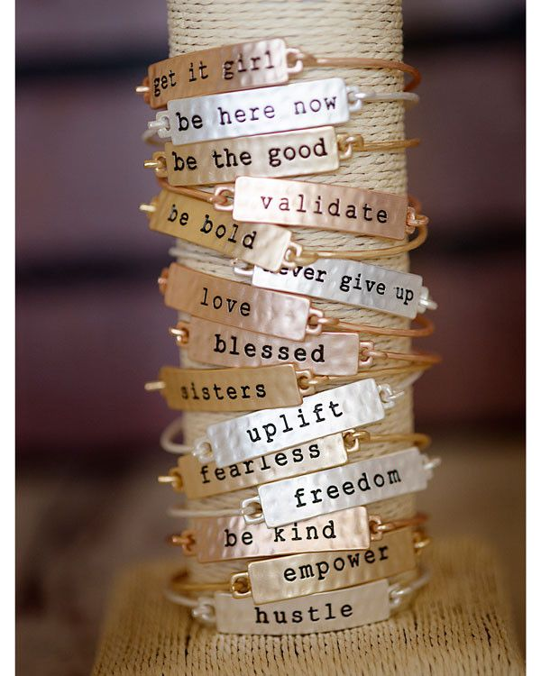Cents Of Style Tribecelets Stamped Phrase Bangles Use Code Powell
