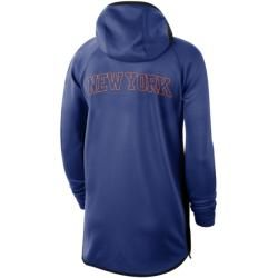 New York Knicks Nike Therma Flex Showtime Nba-hoodie für Herren - Blau Nike