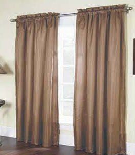 Solid Thermal Insulated, 2 Panels Rod Pocket Blackout Curtain 84
