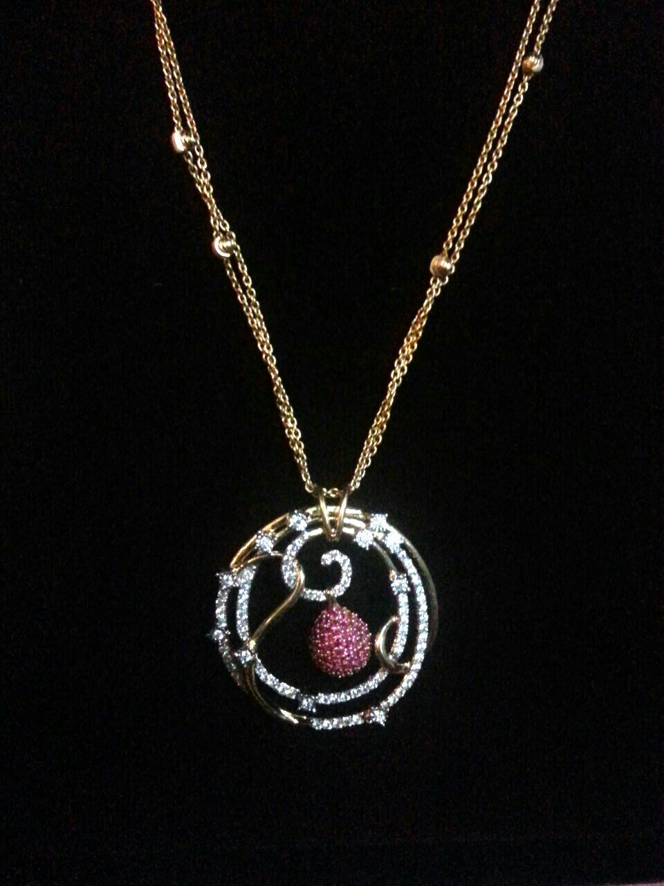 Tanishq pendant my style pinterest pendants