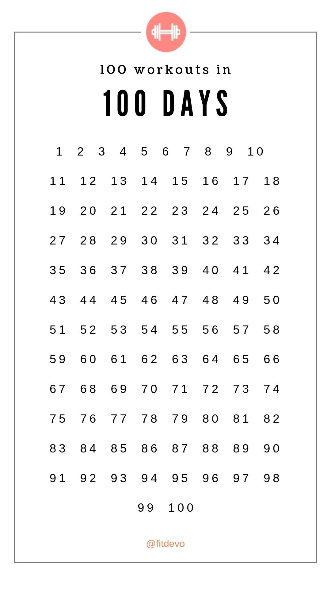 Remarkable 100 Day Countdown Calendar Printable In