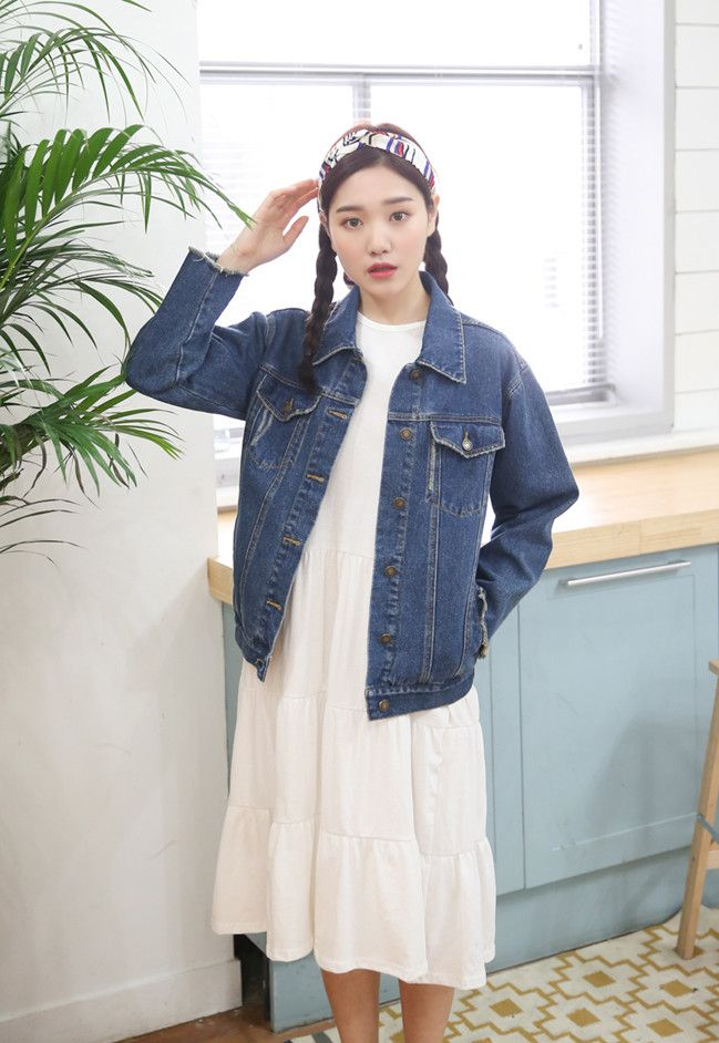 10's trendy style maker en.66girls.com! Four Pocket Denim Jacket (DGBC) #66girls #kstyle #kfashion #koreanfashion #girlsfashion #teenagegirls #fashionablegirls #dailyoutfit #trendylook #globalshopping